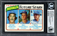 Dan Quisenberry Autographed 1980 Topps Rookie Card #667 Kansas City Royals Beckett BAS #12058703