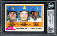 Rick Anderson Autographed 1981 Topps Card #282 Seattle Mariners Key to Set Died 1989 Beckett BAS #12058719
