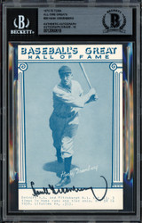 Hank Greenberg Autographed 1977 Baseball's Great Exhibit Card #29 Detroit Tigers Auto Grade 10 Beckett BAS #12060618