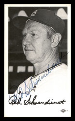 Red Schoendienst Autographed 3x5.5 Team Issued Photo St. Louis Cardinals SKU #175834