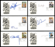 Lot of 70 Autographed MLB Baseball First Day Covers SKU #175959