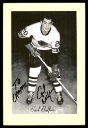 "Earl Balfour Autographed 1944-63 Beehive Group 2 4.5x6.5 Photo Chicago Blackhawks ""To Chappie"" SKU #176826"