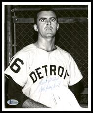 "Bob Humphreys Autographed 8x10 Photo Detroit Tigers ""Best Wishes"" Vintage Signature Beckett BAS #T55036"