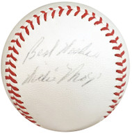 "Willie Mays Autographed Official Spalding Giles NL Baseball New York Giants ""Best Wishes"" Vintage 1952-57 Era Signature PSA/DNA #AH01110"