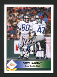 Steve Largent Autographed 1992 Pacific Card Seattle Seahawks Stock #177112