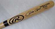 "Pete Rose Autographed Blonde Rawlings Bat Cincinnati Reds ""4256"" In Black PR Holo Stock #177050"