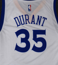 Kevin Durant Unsigned Golden State Warriors White Adidas Swingman Jersey Size L Stock #177417