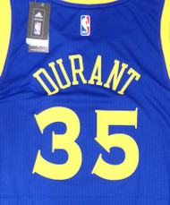 Kevin Durant Unsigned Golden State Warriors Blue Adidas Swingman Jersey Size L Stock #177419