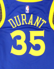 Kevin Durant Unsigned Golden State Warriors Blue Nike Swingman Jersey Size L Stock #177420