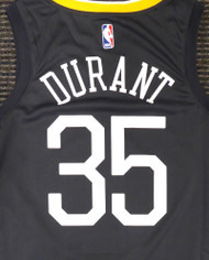 Kevin Durant Unsigned Golden State Warriors Black Nike Swingman The Town Jersey Size L Stock #177421