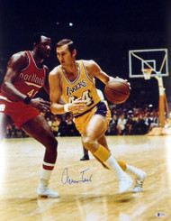 Jerry West Autographed 16x20 Photo Los Angeles Lakers Beckett BAS Stock #177525