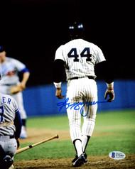 Reggie Jackson Autographed 8x10 Photo New York Yankees 1977 World Series 3rd Home Run Beckett BAS Stock #177596