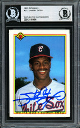 Sammy Sosa Autographed 1990 Bowman Rookie Card #312 Chicago White Sox Beckett BAS #12191464