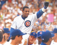 Sammy Sosa Autographed 16x20 Photo Chicago Cubs Beckett BAS Stock #177693