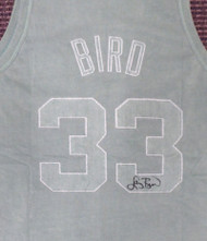 Boston Celtics Larry Bird Autographed Green Mitchell & Ness Washed Out Swingman Jersey Size XL Beckett BAS Stock #177711
