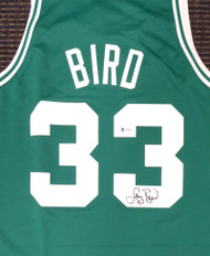 Boston Celtics Larry Bird Autographed Authentic Green Mitchell & Ness Jersey Size M Beckett BAS Stock #177712