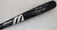 "Pete Rose Autographed Black Mizuno Bat Cincinnati Reds Stat Bat ""Hit King & 4256"" In White PR Holo Stock #178273"