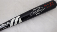 "Pete Rose Autographed Black Mizuno Bat Cincinnati Reds Stat Bat ""Hit King"" In Red PR Holo Stock #178275"
