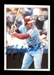 Mike Schmidt Autographed 1985 Topps Sticker Card #111 Philadelphia Phillies SKU #178453