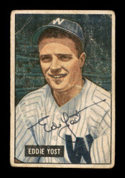 Eddie Yost Autographed 1951 Bowman Card #41 Washington Senators SKU #178606