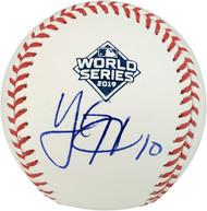 Yan Gomes Autographed Official 2019 World Series MLB Baseball Washington Nationals PSA/DNA Stock #179016