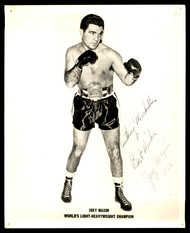 "Joe Maxim Autographed 8x10 Photo ""To Anthony Best Wishes"" Vintage 1952 Signature SKU #179686"