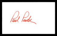 Paul Pender Autographed 3x5 Index Card Middleweight Champ SKU #179710