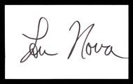 Lou Nova Autographed 3x5 Index Card Boxer, Actor SKU #179719