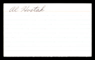 Al Hostak Autographed 3x5 Index Card Middleweight Champ SKU #179729