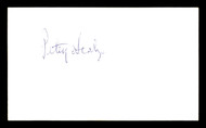 Petey Scalzo Autographed 3x5 Index Card Featherweight Champ SKU #179730
