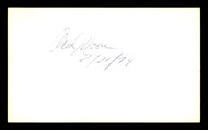 Archie Moore Autographed 3x5 Index Card Light Heavyweight Champ SKU #179734