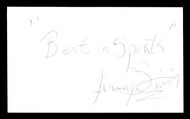 "Jimmy Bivins Autographed 3x5 Index Card Heavyweight Champ ""Best In Sports"" SKU #179735"