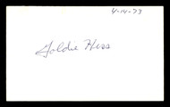 Goldie Hess Autographed 3x5 Index Card Lightweight Boxer SKU #179742
