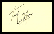 Tony DeMarco Autographed 3x5 Index Card Boxing Champ SKU #179743