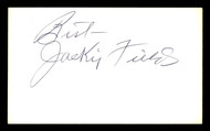 Jackie Fields Autographed 3x5 Index Card Welterweight Champ SKU #179752
