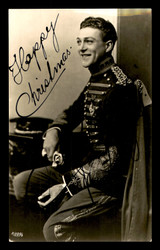 "Carl Brisson Autographed 3x5.5 Photo Danish Actor ""Happy Christmas"" SKU #179765"