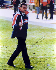 Mike Ditka Autographed 16x20 Photo Chicago Bears Giving The Finger In Black Beckett BAS Stock #179836