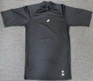 Unsigned Ichiro Suzuki Seattle Mariners Black Short Sleeve Game Used Asics Under Shirt IS Holo Stock #179834