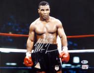 Mike Tyson Autographed 11x14 Photo Beckett BAS Stock #180906