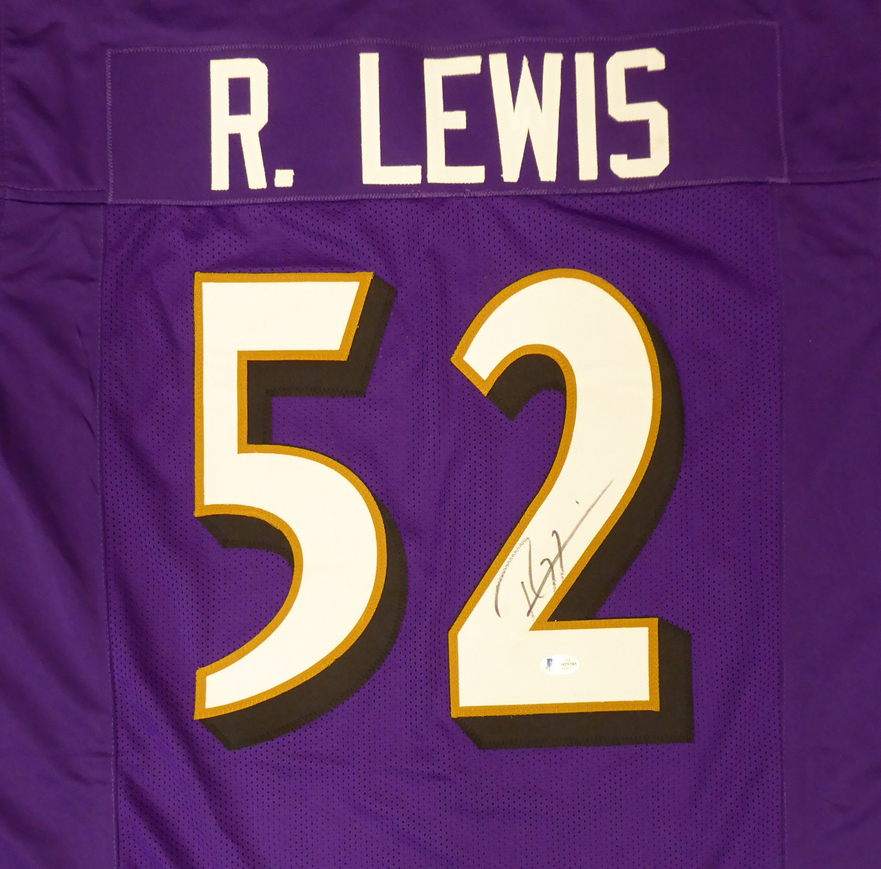 Purple Ray Lewis Autographed Jersey Beckett Authentic Jerseys ...