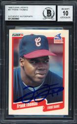 Frank Thomas Autographed 1990 Fleer Update Rookie Card #U-87 Chicago White Sox Auto Grade 10 Beckett BAS Stock #185190