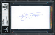 Frank Thomas Autographed 3x5 Index Card Chicago White Sox Beckett BAS Stock #185247