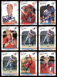 1988 Fleer Baseball Autographed Cards Lot Of 64 SKU #185537