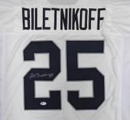 Oakland Raiders Fred Biletnikoff Autographed White Jersey Beckett BAS Stock #185819