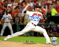 "Shane Bieber Autographed 8x10 Photo Cleveland Indians ""2019 ASG MVP"" Beckett BAS Stock #185905"