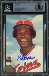 Rod Carew Autographed 3.5x5.5 Postcard Minnesota Twins Auto Grade 10 Beckett BAS #12511840