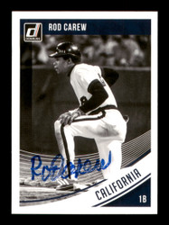 Rod Carew Autographed 2018 Donruss Black & White Card #123 Minnesota Twins SKU #186801