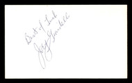 "Joey Giardello Autographed 3x5 Index Card ""Best of Luck"" SKU #186897"