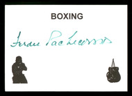Ferdie Pacheco Autographed 4x5 Card Fight Doctor SKU #186904