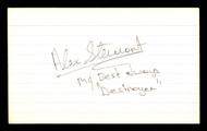"""Alex Stewart Autographed 3x5 Index Card """"""""Destroyer"""""""" SKU #186917"""